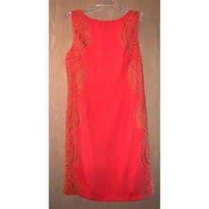 Chetta B Orange Sleeveless Dress
